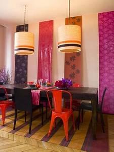 modele papier peint cuisine cool cuisine amricaine avec With amazing modele de maison en u 5 tendance deco un papier peint japonisant