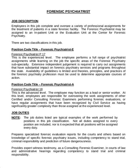 psychiatrist requirements resume cv cover letter