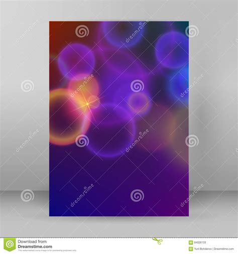 Cover Page A4 Magazine Purple Background Blur Circles