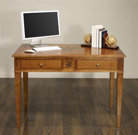 bureau merisier massif table d 39 écriture 2 tiroirs des vents en merisier de