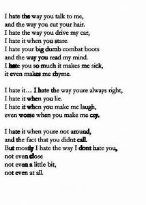 10 things i hate about you, hate, love, - image #487309 on ...