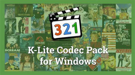 The Best Codec Pack For Windows 7 K Lite Codec Pack 11 7 5 Mega For Windows 10