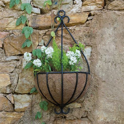 outdoor spanish garden hanging wall planter  plants