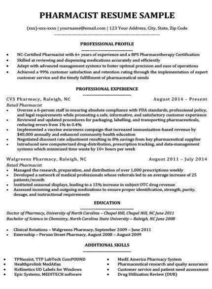 Pharmacist Resume Objective by Pharmacist Cover Letter Sle Resume Companion