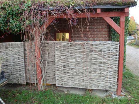 Sichtschutz Garten Geflochten by Sichtschutz Selber Bauen 5 Diys Aus Naturmaterial
