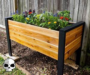 How, To, Make, A, Diy, Raised, Planter, Box, 14, Steps, With, Pictures
