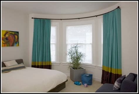 arched window curtain rods curved page home