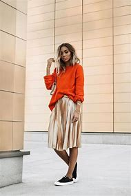 Fall Outfit Pleated Skirt