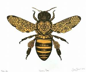 honey bee drawing - Google Search | Tattoos | Pinterest ...