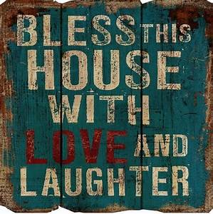 rustic decor bless this house wood sign traditional With kitchen cabinets lowes with she believed she could so she did wall art