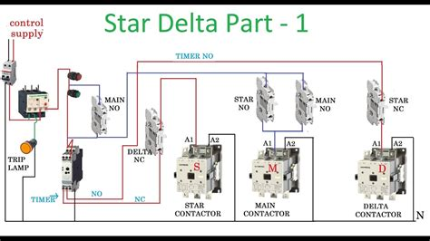 Star Delta Starter Part Youtube