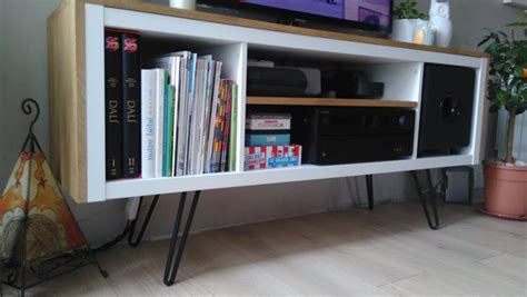 ikea cuisine chene un meuble télé sur pied customisé et accueille un caisson