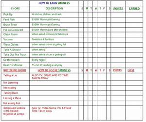 10 best images of chore charts with allowance for kids With allowance chart template