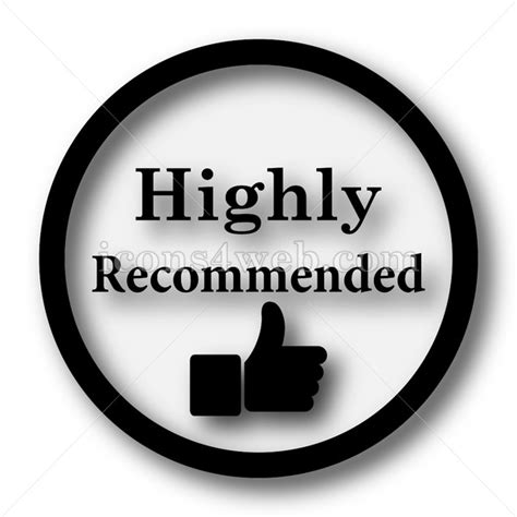 Highly recommended simple icon. Highly recommended simple ...