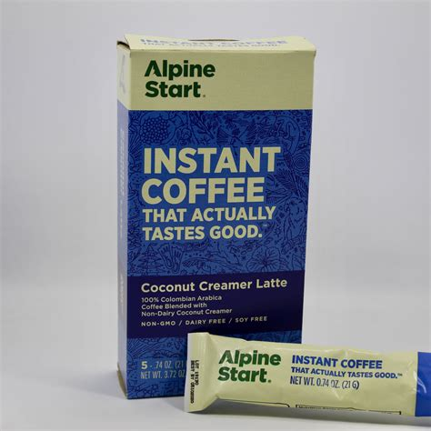 Coffee snobs are stuck between a rock and hard place when it comes to getting their caffeine fix on a backpacking trip. Alpine Start Coconut Creamer Latte Instant Coffee for Backpacking - OutdoorPantry, Inc