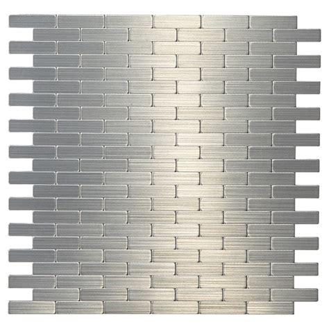 rona kitchen backsplash tiles tuile de m 233 tal autoadh 233 sive bricky s2 acier inoxydable rona 4872