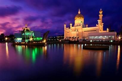 Brunei Ali Mosque Darussalam Omar Bandar Classic
