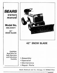 Craftsman 486244071 User Manual 42 Snow Blade Manuals And