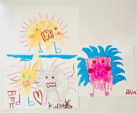scribble monsters easy drawing prompt  kids