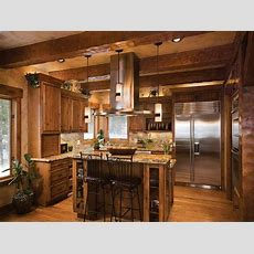 Log Home Open Floor Plan Kitchen Luxury Log Cabin Homes