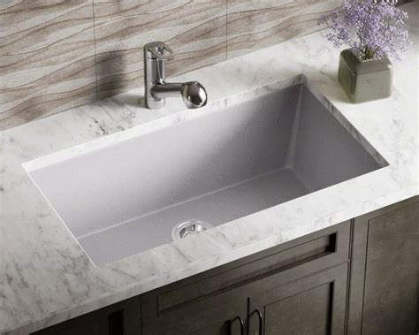 undermount single bowl kitchen sink 848 silver large single bowl undermount trugranite kitchen 8735