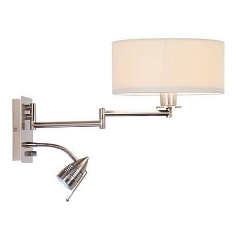 possini in led reading swing arm wall light