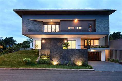 contoh tampak depan rumah minimalis keren  rumah