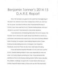 Example 5th Grade Dare Essay Winners