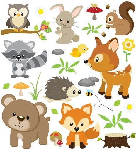 waldtiere clipart  clipart station