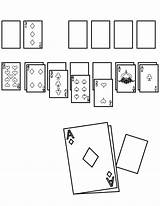 Solitaire Coloring Template sketch template