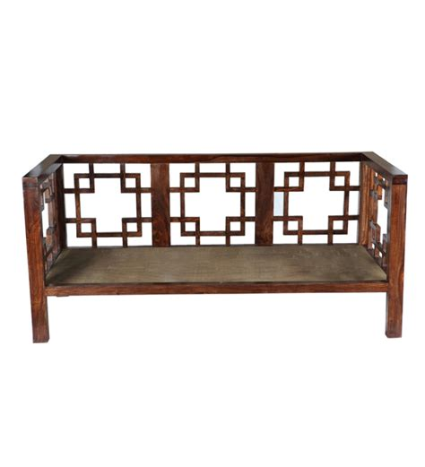 three seater wooden sofa designs sheesham wood three seater sofa just at rs 11200 on pepperfry best e offer