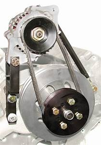 S  B Chevy Denso 60 Amp Mini One Wire Alternator Kit For Long Water Pump  1622