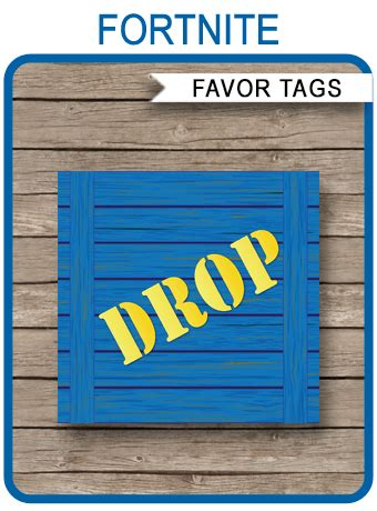 printable fortnite supply drop party tags fortnite party