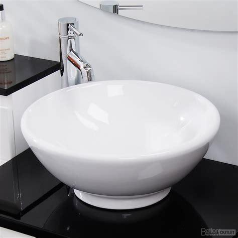 Counter Top Bathroom Wash Basin Sink Washing Bowl Round