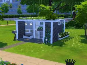 The Sims Resource: Small modern house - 5x5 Chellenge lot