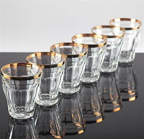 Schone Wasserglaser by 6 Vintage Becher Gl 228 Ser Goldrand Alte Wassergl 228 Ser 19