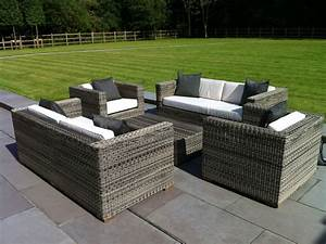 2017 hot sale outdoor furniture rattan garden sofa set With outdoor sectional sofa on sale