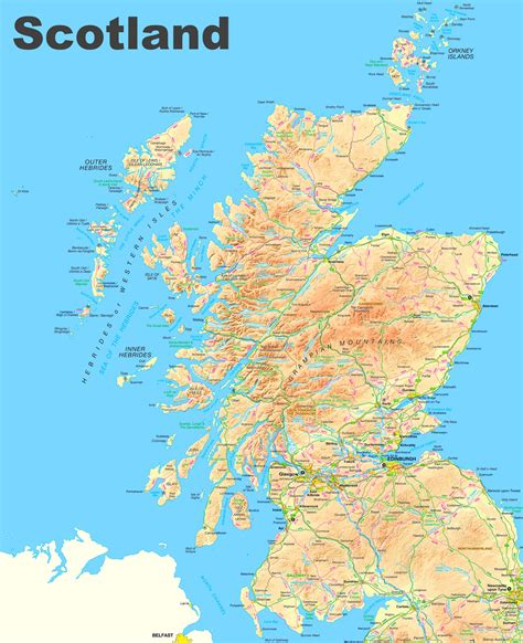 Karte England Schottland