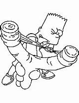 Simpson Bart Coloring Pages Simpsons Slingshot Homer Printable Drawings Template Lisa Topcoloringpages Maggie Getcolorings sketch template