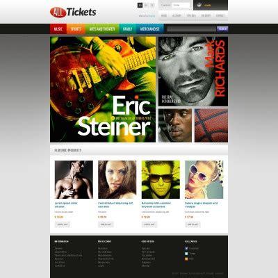 Ticket Template Monster by Tickets Website Templates Templatemonster