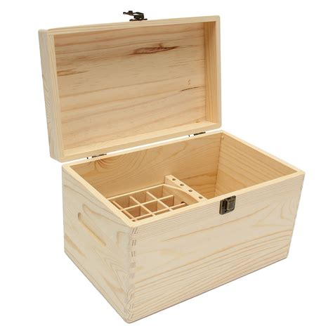 47 Slots Essential Oils Wooden Box Container Solid Pine