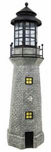 solar lighthouses will add character to any garden