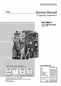 Grundig Cuc2003h T55 830 Service Manual Download  Schematics  Eeprom  Repair Info For