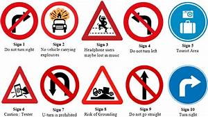 Ten Symbolic Traffic Signs And Their Intended Meanings