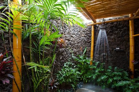 Tropical Shower by Per Your Senses In A Tropical Bathroom