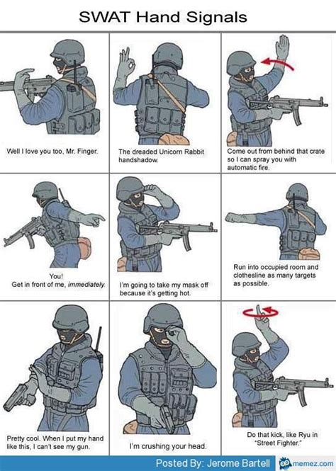Swat Meme - swat hand signals memes com