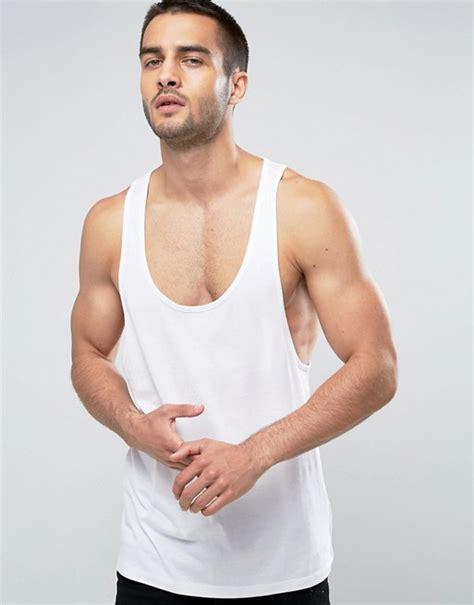 Asos Vest With Racer Back asos design vest with racer back in white asos