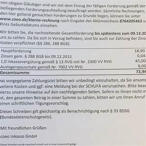 Rechnung Von Klarna : muss ich die inkassogeb hren zahlen inkasso forderung ~ Haus.voiturepedia.club Haus und Dekorationen