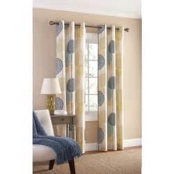 mainstays hanging medallion grommet curtain panels set of