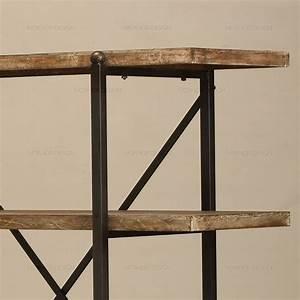 étagère Bois Et Fer Forgé : faire le vieux plateau de fer forg biblioth que ~ Edinachiropracticcenter.com Idées de Décoration